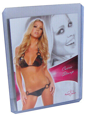 CARRIE STROUP 2011 Bench Warmer Bubblegum Card #5, Miss World America, NM