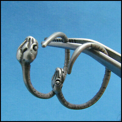 """ SNAKES ""  ancient SILVER Roman-CELTIC EARRINGS !!!!!"