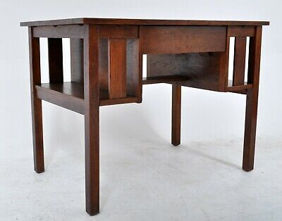 Antique L & J.G. Stickley Handcraft Mission oak Arts & Crafts desk library table