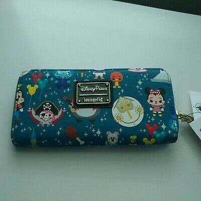 Disney Parks Magic Kingdom Attractions Wallet by Loungefly Actual Shown NWT