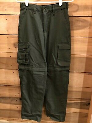 Boy Scouts of America Canvas Convertible Cargo Pants Shorts Youth 12 WORN ONCE!