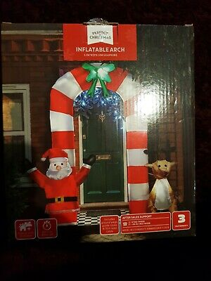 Huge 2.3m Inflatable Christmas Arch Santa Outdoor Over The Door Xmas Decoration