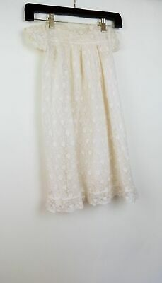 Vintage 30s english christening lace gown