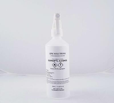 Epic Solutions IPA / Alcohol / ISOPROPYL 99.9% Pure with Trigger Spray 500ml
