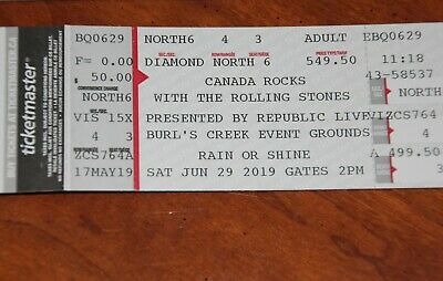 ROLLING STONES Tickets CANADA ROCKS at Burls Creek 2 PREMIUM SEATS DIAMOND!
