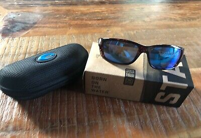 8bc935dbb COSTA DEL MAR tortoise/blue mirror ZANE polarized 580G sunglasses Like New