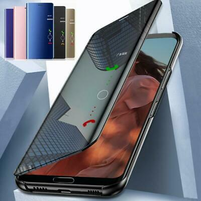 Clear Mirror Leather Flip Stand Case Cover For Xiaomi Redmi Note 7 6 Pro 4X 5A 3