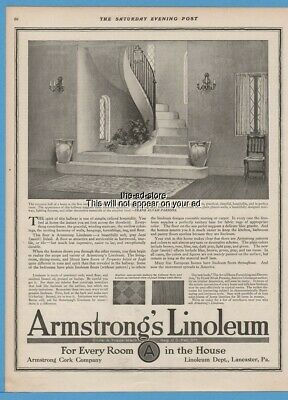 1918 Armstrong Linoleum Lancaster PA Entrance Hall Frank Alvah Parsons quote Ad