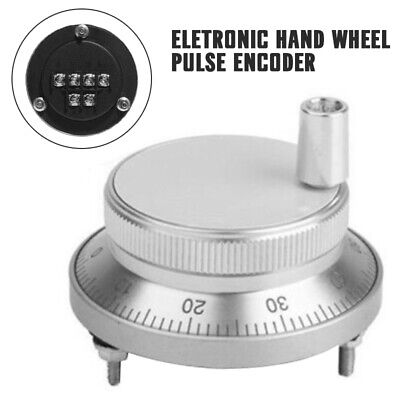 US Silver 6 Terminal 100PPR Electronic Hand Wheel Pulse Encoder For CNC Systems