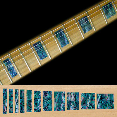 Inlay Stickers Decals Fret Markers For Guitar & Bass - LP SG Blocks - BL