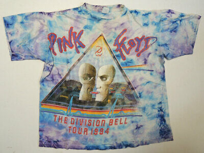 Vtg '94 Pink Floyd Division Bell Concert Tour T Shirt XL RARE Backside Art