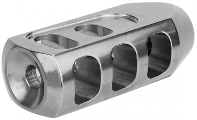 5.56 .223 Heavy Duty Stainless Steel Tanker Muzzle Brake 1/2x28 TPI USA Made