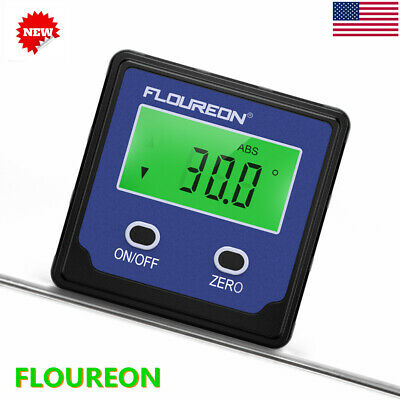 Digital Angle Gauge Level Angle Finders Protractor Bevel Box Meter Magnetic Base