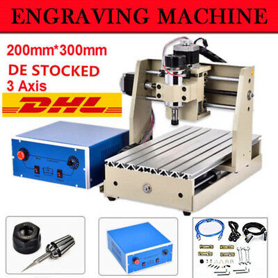 300W 3 Axis CNC 3020T Router Engraver Engraving Machine Drill Mill DIY Cutter!!!