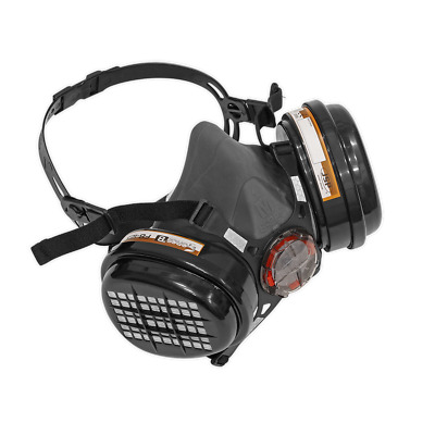 SSP1605 Sealey Respirator Half Mask with A2P3 Filters [Respiratory Protection]