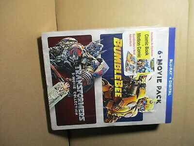 "New Transformers ""Bumblebee"" 6 Movie Pack Blu Ray DVD Set  Sealed"