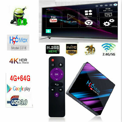 2019 H96 Pro MAX 4GB 64GB Android 9.0 TV Box 4K HD Smart Network Media Player UK