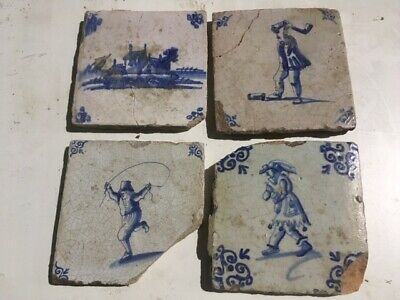 Antique Delft Dutch seramic tiles