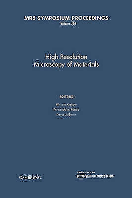 MRS Proceedings High Resolution Microscopy of Materials - Hardback Krakow, W
