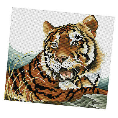 Tiger - Stamped Cross Stitch Kits Embroidery Material Package for Beginners