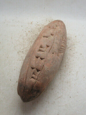 Circa 3000Bc Ancient Near Eastern Clay Cylindrical Tablet Early Form Of Writing