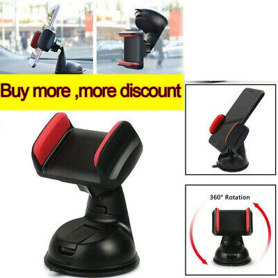 Phone Holder Dashboard Windscreen Mount 360° Rotating Universal In Car Suction