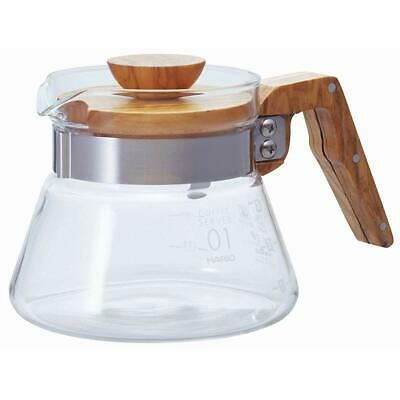 Hario V60 Drip Coffee Server Olive Wood 400ml VCWN-40-OV japan