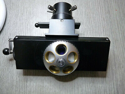 Zeiss photomicroscope Flourescence epi head and five position turret microscope