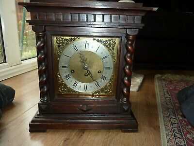 Antique Junghans 8 Day German 1919  Westminster Chime  Bracket Shelf Clock