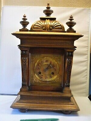 fine Antique Junghan's German 8 Day Chiming Mantle Bracket Clock fully working