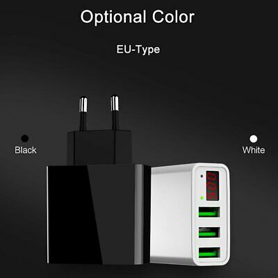 Universal 5V 3A 3-Port USB Wall Home Travel AC Fast Charger Adapter US/EU Plug