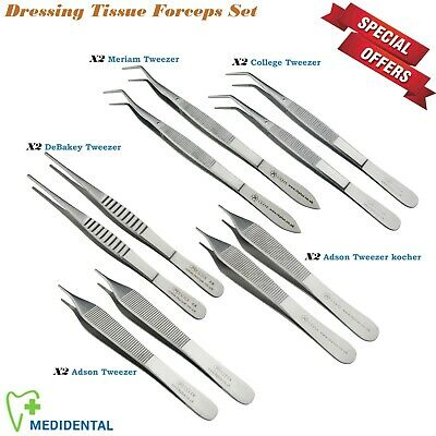 Surgical Dressing Forceps Tissue Holding Instrument Tool Kit 13-PCs Dentistry CE