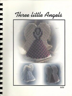 Perforated Plastic Canvas Patterns Three Little Angels by Wauneta Wine