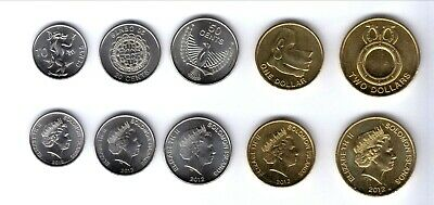 Solomon 2012 Set 5 Monedas 10 Cents - 2 Dollars  Unc