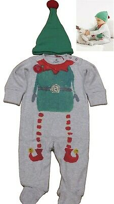 NEXT Baby BOYS' Elf Sleepsuit And Hat Set 3-6 Months Fast Shipping UK Seller