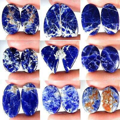 Natural Blue Sodalite Matched Pair Mix Cab Quality Loose Gemstone PK76