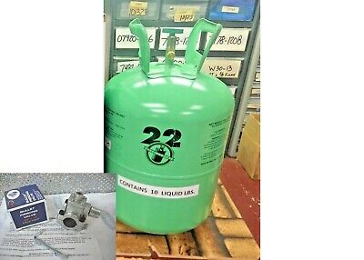 Refrigerant-22, r22 Disposable Cylinder, 10 lb, Virgin R-22, Free Ship, Kit A9