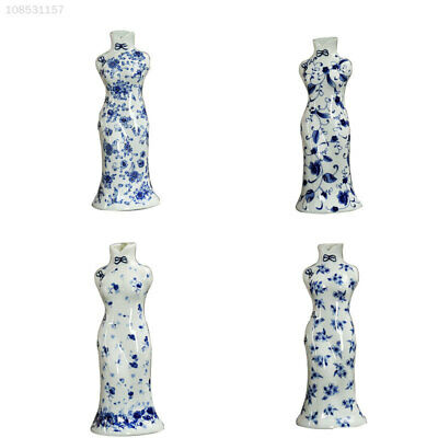 Classical Chinese Cheongsam Hand-Painted Vase Blue And White Porcelain Ornament