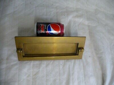 "Vintage 1960s Large Brass Letterbox Door Knocker 10"" X 4"" Architectural Hardware"