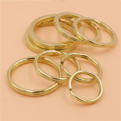 10pcs Set Brass Stainless Steel Key Ring Keychain DIY Handmade Metal Accessories