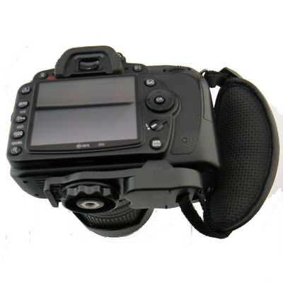 Practical PU Leather Strap Hand Grip Camera Durable Black Leather Wrist Strap