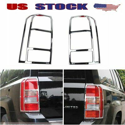 Fits 2011-18 Dodge Journey Chrome Front HeadLight Rear Lamp TailLight Cover Trim