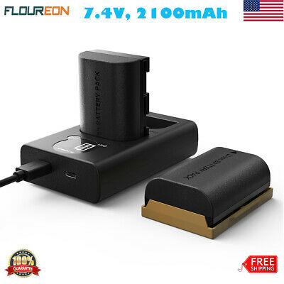 2 × 7.4V 2100mAh Camera Battery USB Charger for Canon EOS 5D,Mark,5Ds,6D,70D,80D