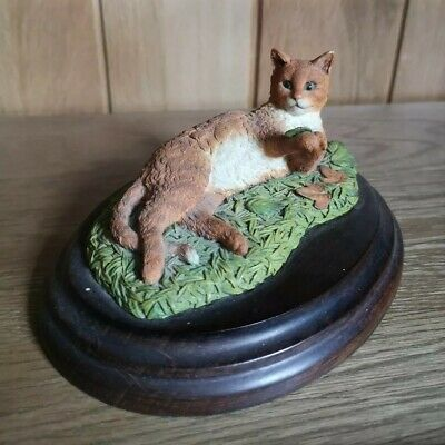 Vintage Country Artists Cat Ornament - Cute Red Ginger Cat