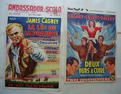 JAMES CAGNEY /F24/ 2 affiches belges