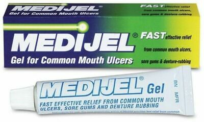 Medijel Oral gel for Common Mouth Ulcers 15g, Fast Effective Relief, Sore Gums