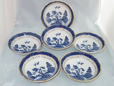 Royal Doulton Booths Real Old Willow 6 X 5.25 Inch Shallow  Bowls Vintage