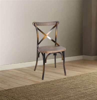 Side Chair in Antique Copper and Antique Oak [ID 3871838]