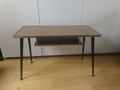 Vintage Coffee Table with Magazine Shelf on Long Dansette Legs.
