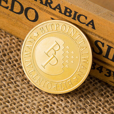 Bitcoin Gold plated Coin Collectible Challenge Coin Commemorative Art Gifts FF